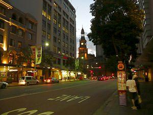 Park Street, Sydney - Park Street at dusk
