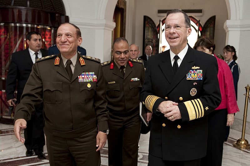 File:100214-N-0696M-324 - Mike Mullen is greeted by Sami Hafez Enan in Cairo.jpg
