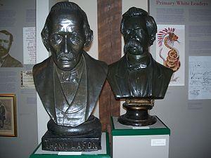 Thomy Lafon - Bust of Thomy Lafon (at left)
