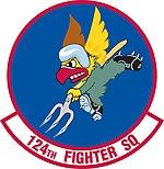124th Fighter Squadron emblem