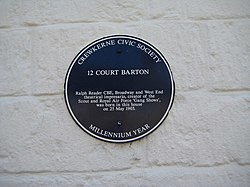 Photo of Ralph Reader blue plaque