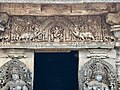 12th-century Nataraja above entrance door Shiva shrine at Shaivism Hindu temple Hoysaleswara arts Halebidu Karnataka India.jpg