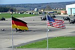 12th Combat Aviation Brigade Headquarters overlooking the Katterbach Army Airfield in Ansbach 2016.jpg