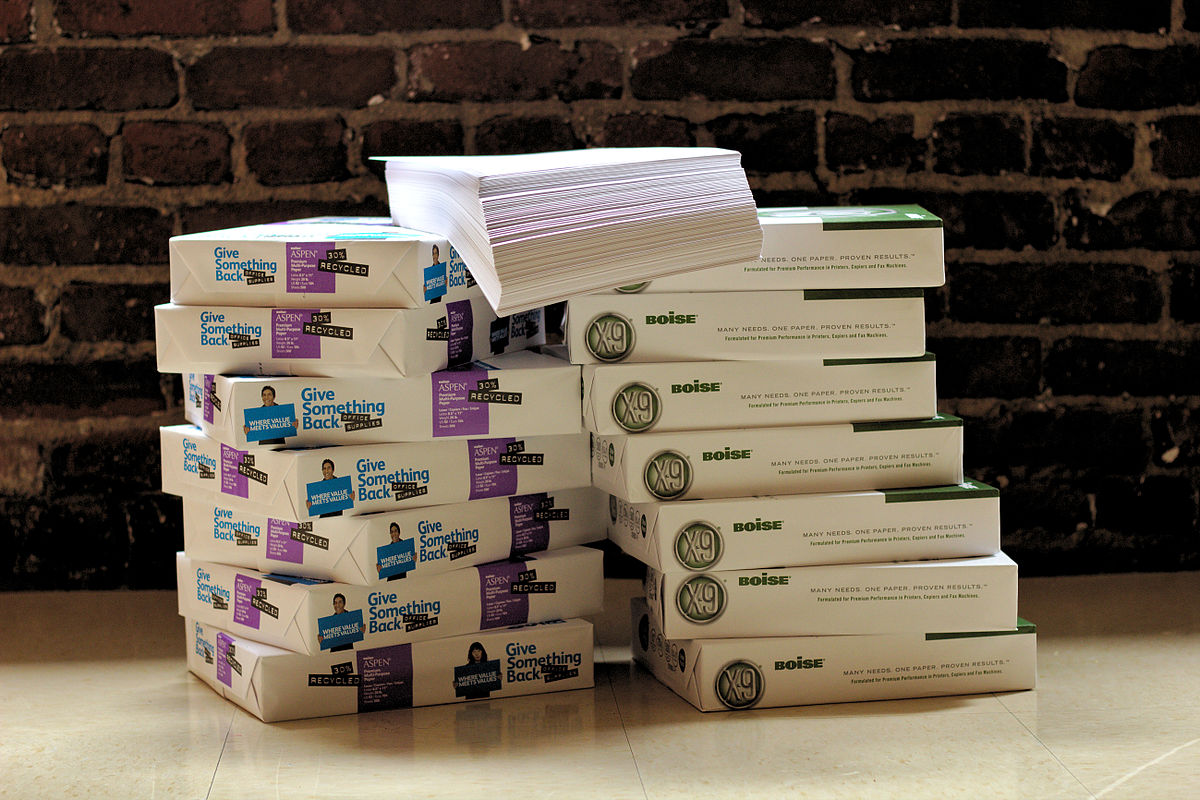 paper reams A tree can only produce, on average, 17 reams of paper, and takes about 100  years to grow  after all, more than 50% of paper comes from virgin forests   how many reams of paper (and trees) does your organization use every month.