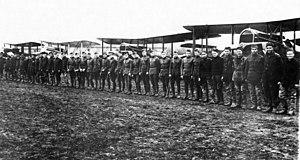 166th Aero Squadron - Men and aircraft of the 166th Aero Squadron, November 1918