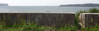 Georges Head Battery - 1803 Fort, looking towards Sydney Heads