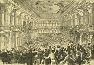 Democratic National Convention - Illustration of the 1876 Democratic National Convention in St. Louis, Missouri.