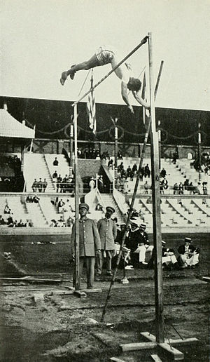Athletics at the 1912 Summer Olympics – Men's pole vault - Second silver medalist Marc Wright.