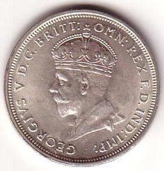 Florin (Australian coin) - Image: 1927 Australian florin obverse