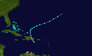 1935 Atlantic hurricane season - Image: 1935 Atlantic tropical storm 1 track