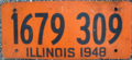 1948 Illinois license plate - Number 1679 309.png