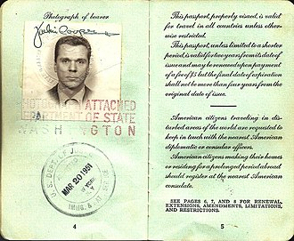 Jackie Cooper - 1950 US passport issued to Jackie Cooper for his trip to the UK.