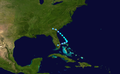 1953 Atlantic tropical storm 5 track.png