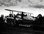 """1955. """"Gooping"""" a Stearman spray plane. Western spruce budworm control project. Big Summit airstrip, OR. (32213752724).jpg"""