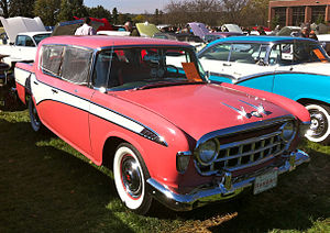 Rambler Six and V8 - 1956 Hudson Rambler Custom sedan, with dealer accessory window insect screens