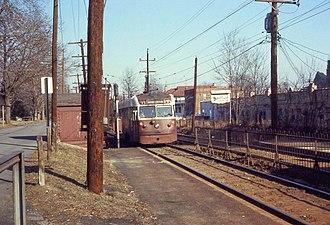 Drexel Hill Junction station - A Brilliner at Drexel Hill Junction in 1969.