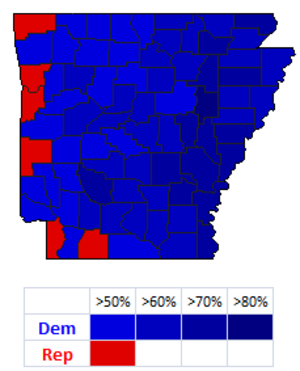 United States Senate election in Arkansas, 1992 - Image: 1992bumpers