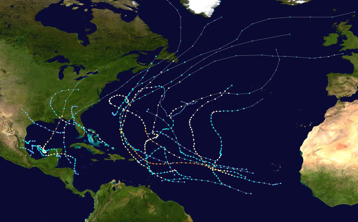 1995 Atlantic hurricane season - Wikipedia