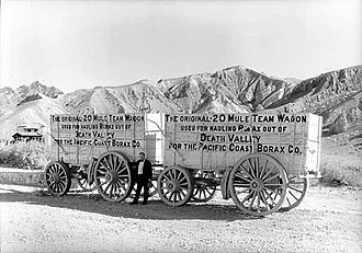 Pacific Coast Borax Company - Twenty Mule Team Wagon, in Death Valley.