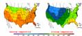2002-09-21 Color Max-min Temperature Map NOAA.png