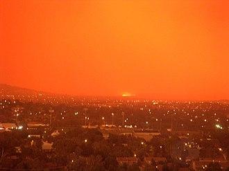 2003 Canberra bushfires - Image: 2003Canberra Bushfires