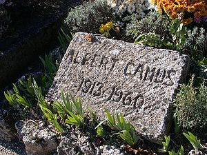 Albert Camus' tombstone in Lourmarin