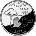 Michigan quarter dollar coin