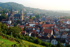 Heppenheim - Cathedral and old town