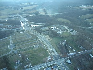 Clarksburg, Maryland - An aerial view of Clarksburg, Maryland in January 2007.