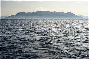 Methana - View of Methana peninsula from the sea