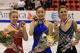 Júlia Sebestyén - Sebestyén with her fellow medalists at the 2009 Skate America