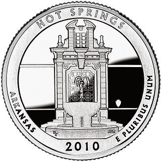 America the Beautiful Quarters - Hot Springs quarter