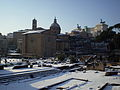 2012-02-04 Snow on Imperial fora in Rome.JPG