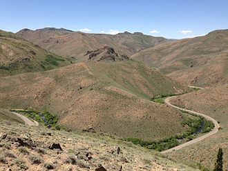 Nevada State Route 225 - SR 225 through Owyhee Canyon