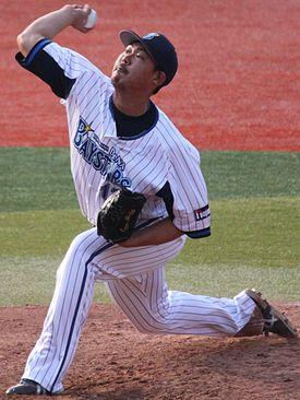 20130317 Shun Yamaguchi, pitcher of the Yokohama DeNA BayStars, at Yokohama Stadium.JPG