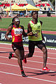2013 IPC Athletics World Championships - 26072013 - Esperanca Gicaso and Isaac Vieria Adao of Angola during the Women's 200m - T11 third semifinal.jpg