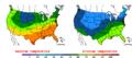 2016-04-28 Color Max-min Temperature Map NOAA.png