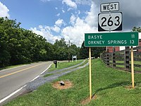 2016-07-19 12 13 19 View west along Virginia State Route 263 (Orkney Grade) just west of Interstate 81 in Rinkerton, Shenandoah County, Virginia.jpg