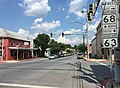 2016-07-29 15 45 56 View north along U.S. Route 11 and Maryland State Route 63 (Potomac Street) at Maryland State Route 68 (Conococheague Street) in Williamsport, Washington County, Maryland.jpg