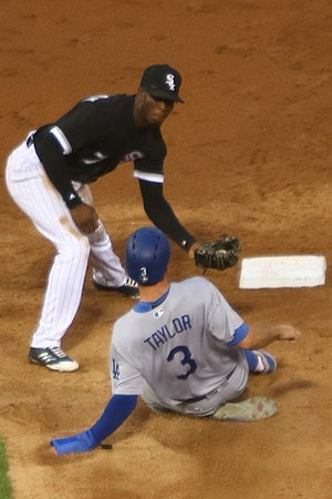 Tim Anderson (baseball) - Anderson tagging out Chris Taylor