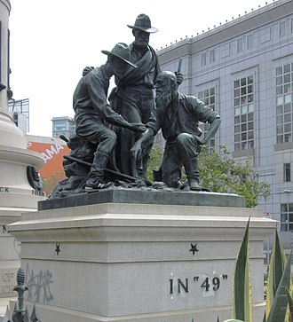 Pioneer Monument (San Francisco) - Image: 2017 Pioneer Monument west In 49