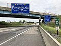 2019-06-07 11 20 22 View north along Interstate 81 entering Antrim Township, Franklin County, Pennsylvania from Maugansville, Washington County, Maryland.jpg