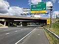 2019-06-14 11 13 31 View northwest along the Inner Loop of the Baltimore Beltway (Interstate 695) at Exit 11B (Interstate 95 SOUTH, Washington) in Arbutus, Baltimore County, Maryland.jpg
