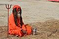 2019 Jan 14 - Prayagraj Kumbh Mela - Sitting Baba.jpg