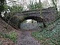 2021-01-29 Disused railway bridge on Paston Way, Southern end of North Walsham to Knapton section, Norfolk.jpg