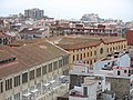 22 Fàbrica Llobet-Guri i Escola Pia (Calella), des del Parc Dalmau.jpg