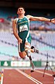 231000 - Athletics field long jump Don Elgin action 2 - 3b - 2000 Sydney event photo.jpg