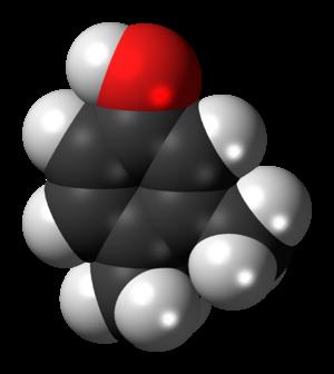 3,4-Xylenol - Image: 3,4 Xylenol 3D spacefill