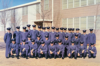 Air Training Command - USAF Basic Training graduation photo, 3332d BMTS Flight 495, December 1966, Amarillo AFB, Texas/