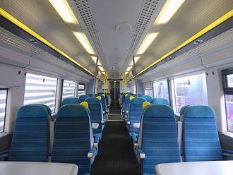 British Rail Class 377 - The interior of Standard Class aboard a Southern Class 377/4